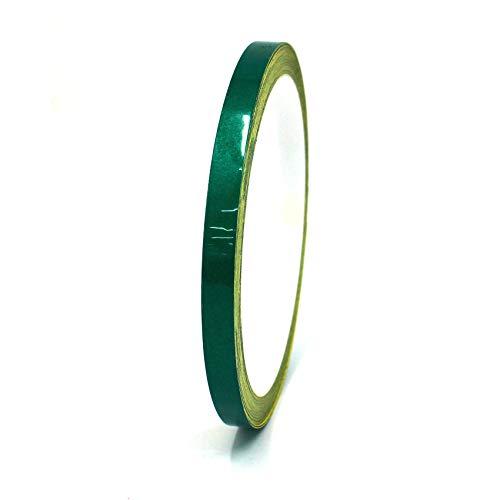 Finest Folia, sierstrips, auto, motorfiets, boot, modelbouw, kleurkeuze, 10 meter 3mm Breite Reflecterend groen.