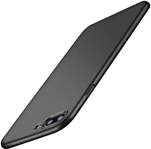 TORRAS Slim Fit Compatible for iPhone 8 Plus Case/iPhone 7 Plus Case, Hard Plastic PC Ultra Thin Phone Cover Case with Matte Finish Coating Grip, Black