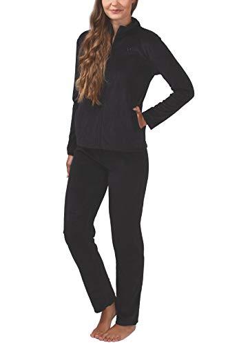 SLOUCHER Nicki-Anzug für Damen, Farbe:schwarz, Größe:S