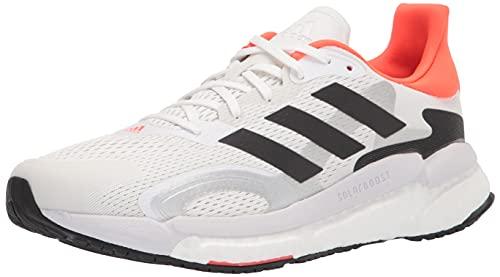 adidas Men's Boost 3 Trail Running Shoe, White/Black/Solar Red, 9.5