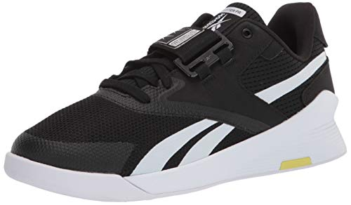 Reebok Men's Lifter PR II Cross Trainer, Black/White/Chartreuse, 10.5