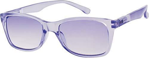 L63 Opticollection Gafas de Lectura para vista cansada con Funda Hombre | Mujer | Lentes Graduadas para Presbicia Filtro Protección Solar: +1/ +1.5/ +2/ +2.5/ +3/ +3.5 (+1.50, Morado)