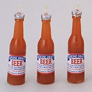 Cakesupplyshop 6 Pc Beer Bottle Novelty Candle Set