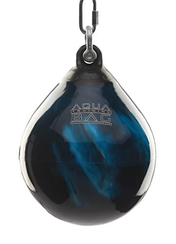 Aqua Training Bag Bad Boy Blue Aqua Head Hunter 12 Inch, 35 Pound Slip Ball Punching Bag Hybrid