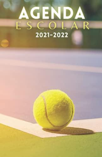 Agenda Escolar 2021-2022 Tenis: Agendas 2021-2022 dia por pagina | Planificador diario para niñas y niños | Material escolar colegio secundaria estudiante | Portada pelota