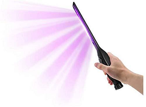 Varita desinfectante de luz UV, lámpara portátil de desinfección de luz UVC cargable, mini esterilización para interiores lámpara de esterilización de luz morada, varita de viaje con carga USB