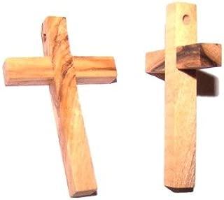 TEN 50x30 mm olive wood rosary cross (2x1.2