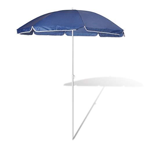 SEESEE.U Parapluie de Plage 180 cm Couleur Bleu
