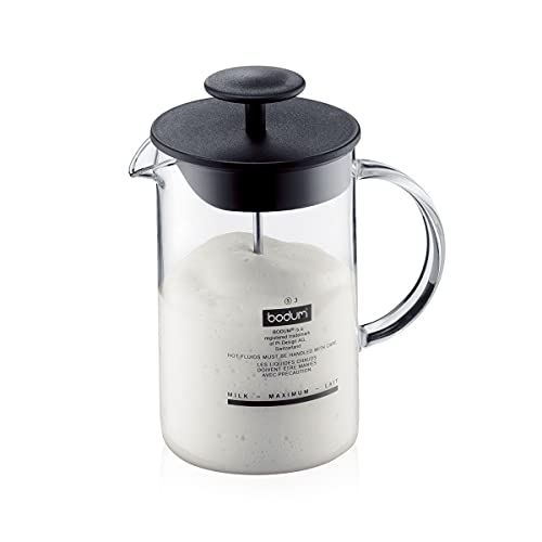 Bodum 1446-01 Latteo - Espumador de leche, vidrio de borosilicato - 0,25 L Para unisex adultos