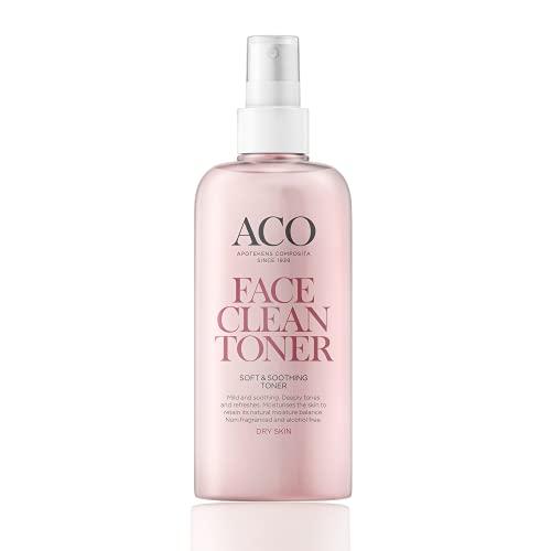 ACO Soft & Soothing Toner - Gesichtswasser für trockene Haut - Daily Care Dry Skin - wirkt sanft und beruhigend - parfümfrei, vegan und frei von Tierversuchen - 1 x 200 ml