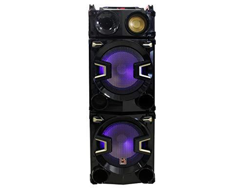 "Mr. Dj Hollywood 3-Way Dual 12"" Portable Active Speaker, Max Power 5000 Watts P.M.P.O"