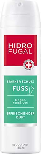 Hidrofugal Fuss Spray, Fußdeo mit Menthol-Duft, hautfreundliches Deodorant erfrischt und kühlt müde Füße, 1er-Pack (1 x 150 ml)