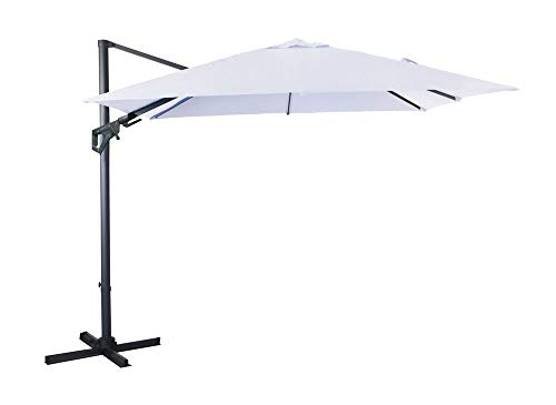 Proloisirs Parasol Deporte Orientable 3X3/8 Nh20 Inclinable Manivelle - Ecru