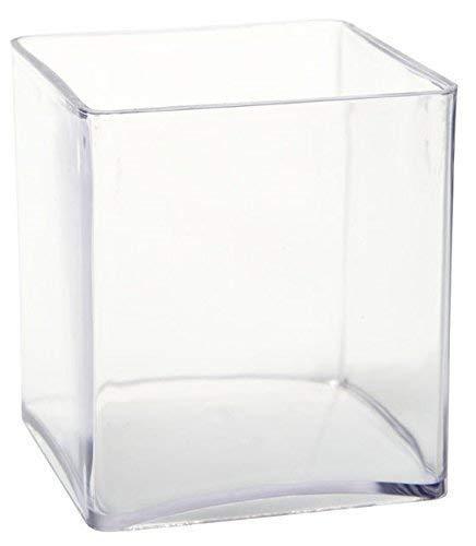 Inerra 15cm Transparent Acryl Würfel - Schreibwaren Stift Kanne/Orchidee Blumenvase/Kaffee Pod Aufbewahrung - Durchsichtig, Single Cube