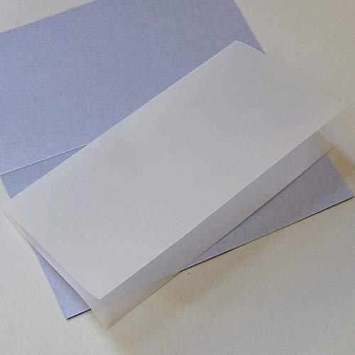 100 transparente Einlegeblätter 20,8 x 20,8 cm (zum einmal Falten für Klappkarten 21 x 10,5 cm)