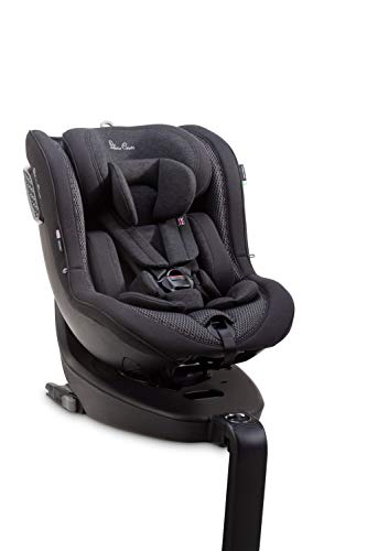 Silver Cross Motion Car Seat, 360° Rotating Baby Seat for Newborn/Toddler up to 4 Years (18 kg), Multi-Position Reclining ISOFIX Car Seat, i-Size / Group 0+ to 1, with Side Impact Protection