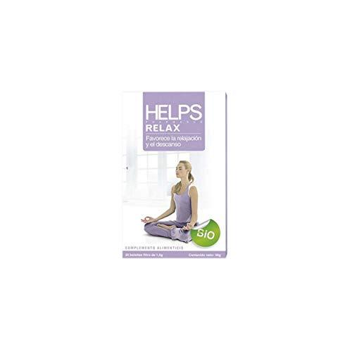 HELPS INFUSIONES - Infusión Relax Ecológica De Melisa Y Pasiflora. Té Relajante Orgánico Que Ayuda A Dormir. Caja De 20 Bolsitas
