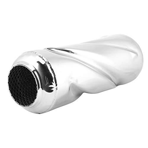 Qiilu Tubo medio de escape, tubo intermedio de escape de 2,5 pulgadas, tubo de silenciador de ajuste disipativo, accesorio universal para coche