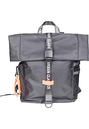 Urban Classics Nylon Backpack Rucksack 60 cm, 18 L, Blk/Neonorange