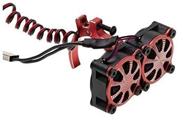 Ventilador de enfriamiento de motor RC Ventilador De Enfriamiento Del Disipador Térmico Del Motor Con El Ajuste Del Sensor Térmico Para 540 550 3650 3660 Motors 1/10 Fit Para RC Coche Axial SCX10 TRAX