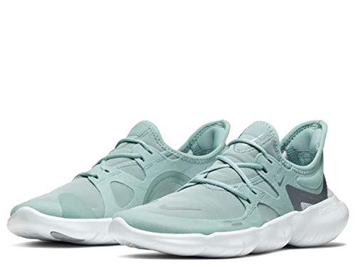 Nike Free RN 5.0 Women's Running Shoe Ocean Cube/MTLC Cool Grey-Pure Platinum Size 6.5