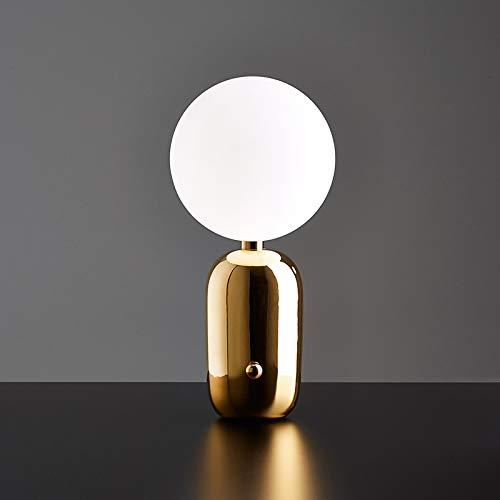 Einfache Nachttischlampe Schlafzimmer Ball Tischlampe Restaurant Studie Tee Zimmer Dänisch Kreative Dekorative Tischlampe 1 45 * 25 Cm