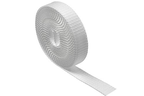 Schellenberg 36103 Gurt für Rollladen für Fenster, System Maxi 23 mm Gurtbreite, 6,0 m, Weiß