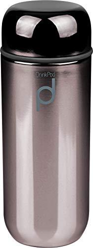 Grunwerg HCF-200BM DrinkPod - Borraccia termica a doppia parete, in acciaio INOX, 200 ml
