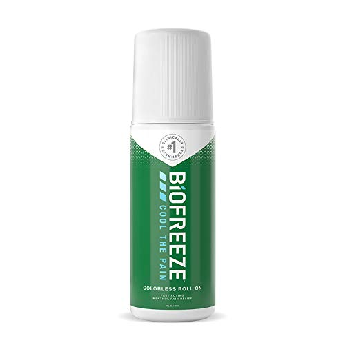Biofreeze-11827 Pain Relief Roll-On, 3 oz. Colorless Roll-On, Fast Acting, Long Lasting, & Powerful Topical Pain Reliever (Packaging May Vary)