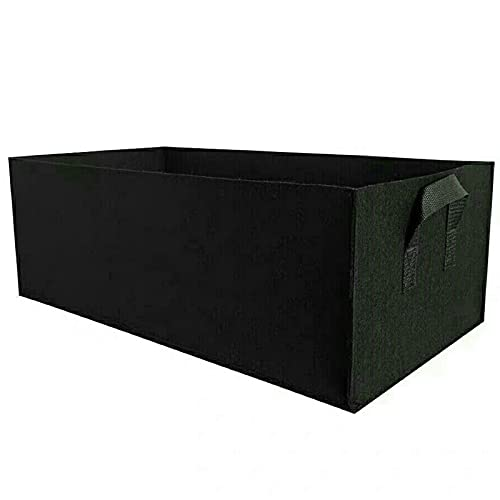 Kacsoo Rectangle Grow Bag Garden Felt Planter Bags Square Planting Container Growing Pot with Handles for Flowers Vegetables Tomatoes Garden Bed Bags