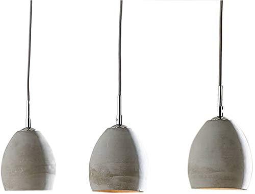 DELIFE Hängeleuchte Cirillo 70x15 Grau 3 Schirme Beton