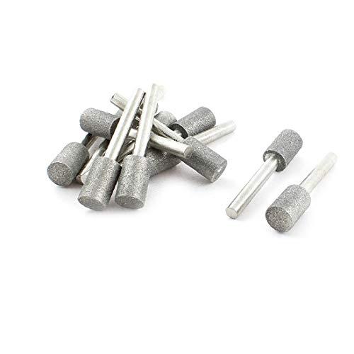 X-DREE 12Pcs 12mm Dia Cylinder Head Diamond Mounted Point Grinding Bit 60mm(12 Unids 12mm Dia Cilindro Diamante Punta de montaje de diamante Broca 60mm