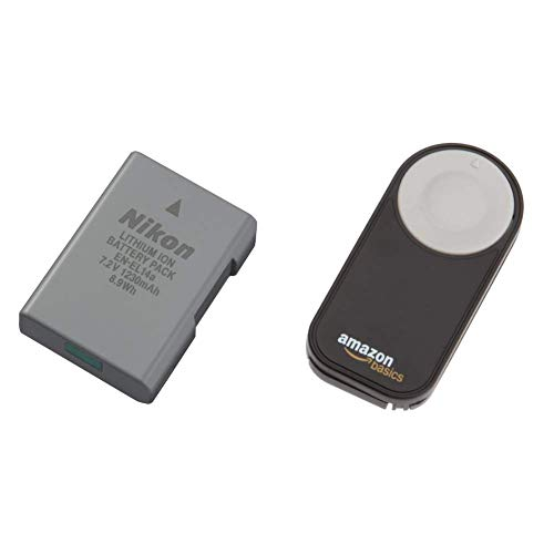Nikon Lithium-Ionen Akku VFB11402 & AmazonBasics IR-Fernauslöser für Nikon SLR-Digitalkameras