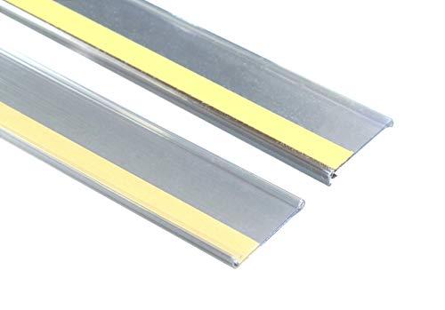 SN-TEC Scannerschienen/Etikettenhalter/Preisschiene transparent, selbstklebend 32mm x 1000mm (10 Stück)