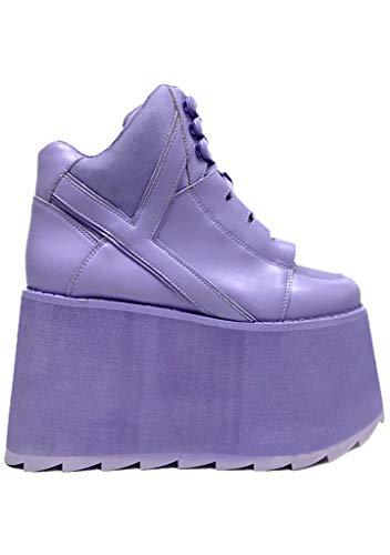 YRU Qozmo Hi 2 Platform Sneakers - Lavender (Numeric_10)