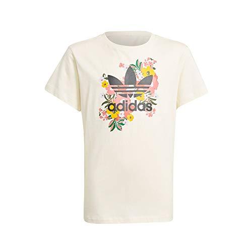 adidas GN4216 Tee T-Shirt Bambina Cream White/Multicolor/Black 1213