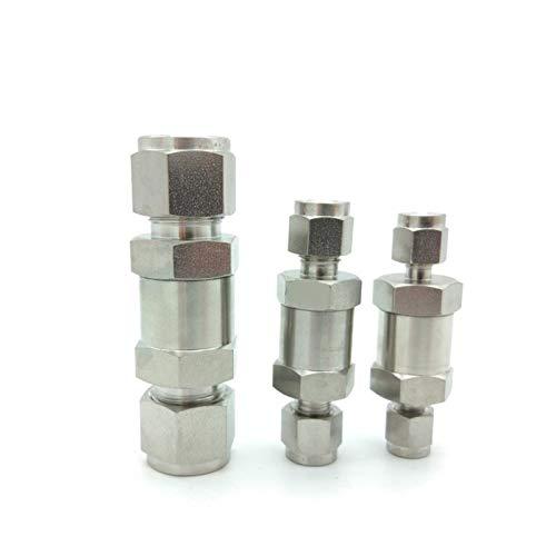 Válvula, Válvula Solenoide CV-OD / F Mini En Línea válvula de retención 6000 psi acero inoxidable 316L 1/8 1/4 3/8 1/2 3/4 SS válvula de retención Con Agua, Aire, etc. ( Specification : CV 10OD 10mm )