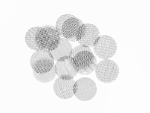 Höhlenrausch 150 Siebe Vorratspackung für Pfeife, Bong, Vaporizer & mehr - aus rostfreiem Edelstahl - faltbar - 19mm