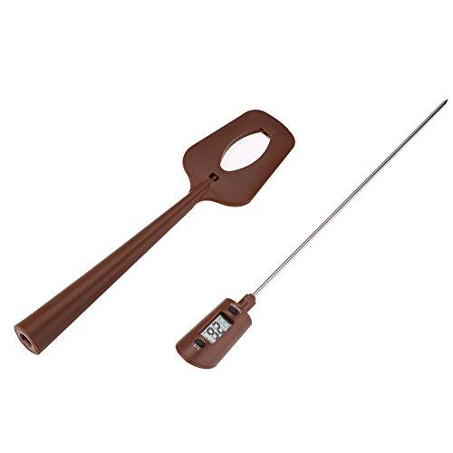 Küchenthermometer,Asixx Rührlöffel-Set mit Thermometer Temperaturbereich 32 ℃ ~ 320 ℃für Schokolade, Soße, Marmelade und Sirup