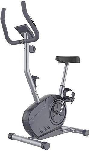 KANJJ-YU Bicicleta estática magnética con gran capacidad de peso, asiento ajustable, monitor LCD con soporte para teléfono y ejercicio en el hogar