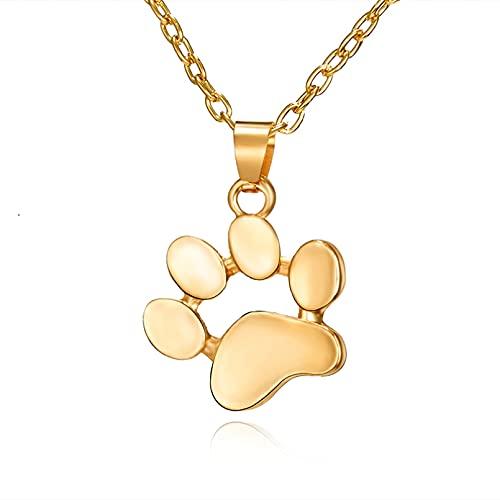 SOTUVO Collar 1 Pieza de aleación de Rosa, Encantador Collar con Huella de Pata de Animal, Colgante, Collar de Perro y Gato para Mujer, joyería de Moda
