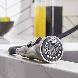 IKEBANA Stainless Steel Pull Down Kitchen Faucet