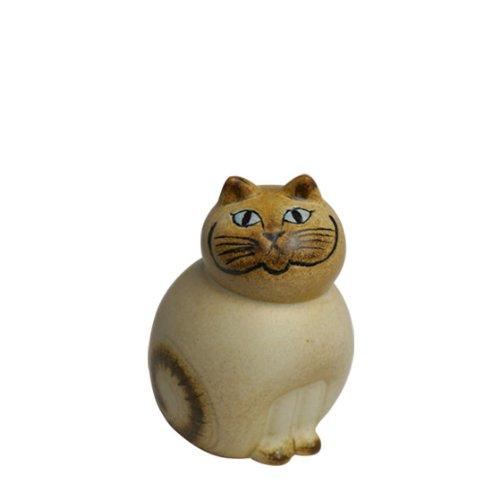 [リサ・ラーソン] LISA LARSON キャットミア ミニ (小) ホワイト 顔ブラウン Mia Cat Mini [並行輸入品]