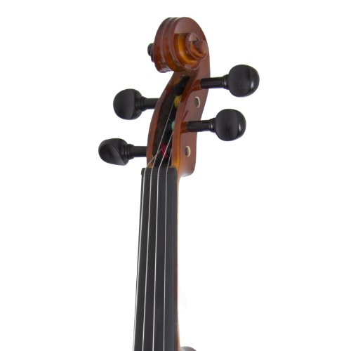 Cecilio CVN-300 Solidwood Ebony Fitted Violin with D'Addario Prelude...