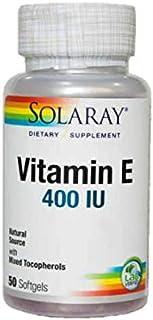 Solaray Vitamin E 400 UI - 50 perlas