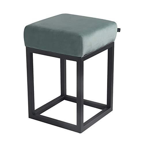 Damiware Brucy - Sgabello basso, altezza seduta 50 cm, sgabello per il trucco decorativo, multifunzione, industriale, vintage, colore: Verde menta