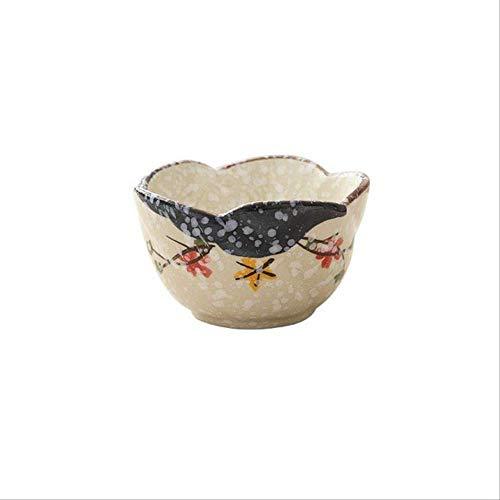 GJDBBLY Bowl keramiek grote soep schaal rijst schaal handbeschilderd pruim bloemen keramiek schaal Japanse magnetron oven servies