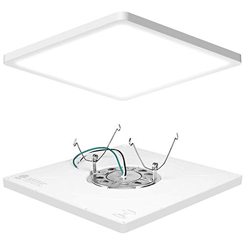 AVANLO Super Slim 0.6 Inch Thickness 12 Inch Dimmable LED Ceiling Light Fixture, 120V 5000K 1680lm 24W (150W Equivalent) for...