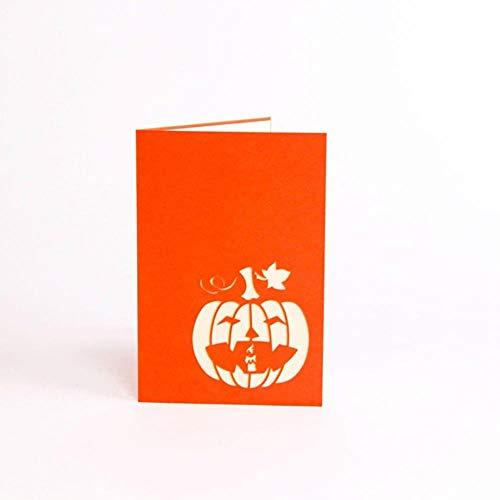 Kreative 3D Halloween Kürbis Grußkarte Geburtstagskarte Kinder Handmade Festival Karte Papier Karte Decor Supplies, Russische Föderation