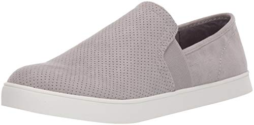 Dr. Scholl's Shoes womens Luna Sneaker, Grey Cloud Microfiber Perforated, 9.5 US